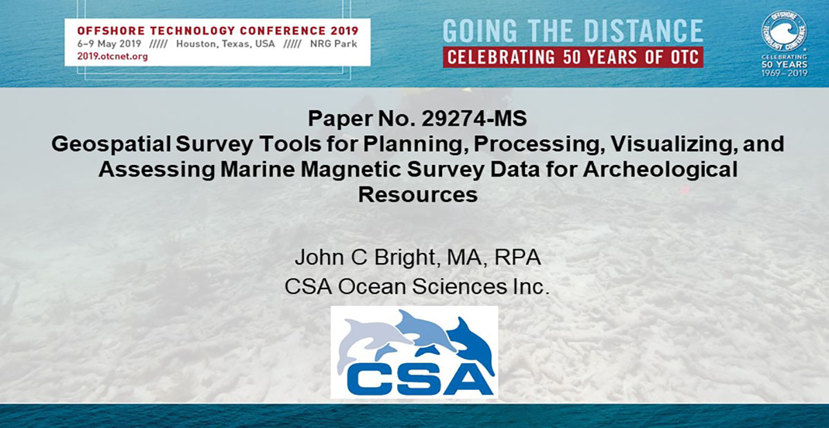 John Bright Presents at 2019 Offshore Technology Conference